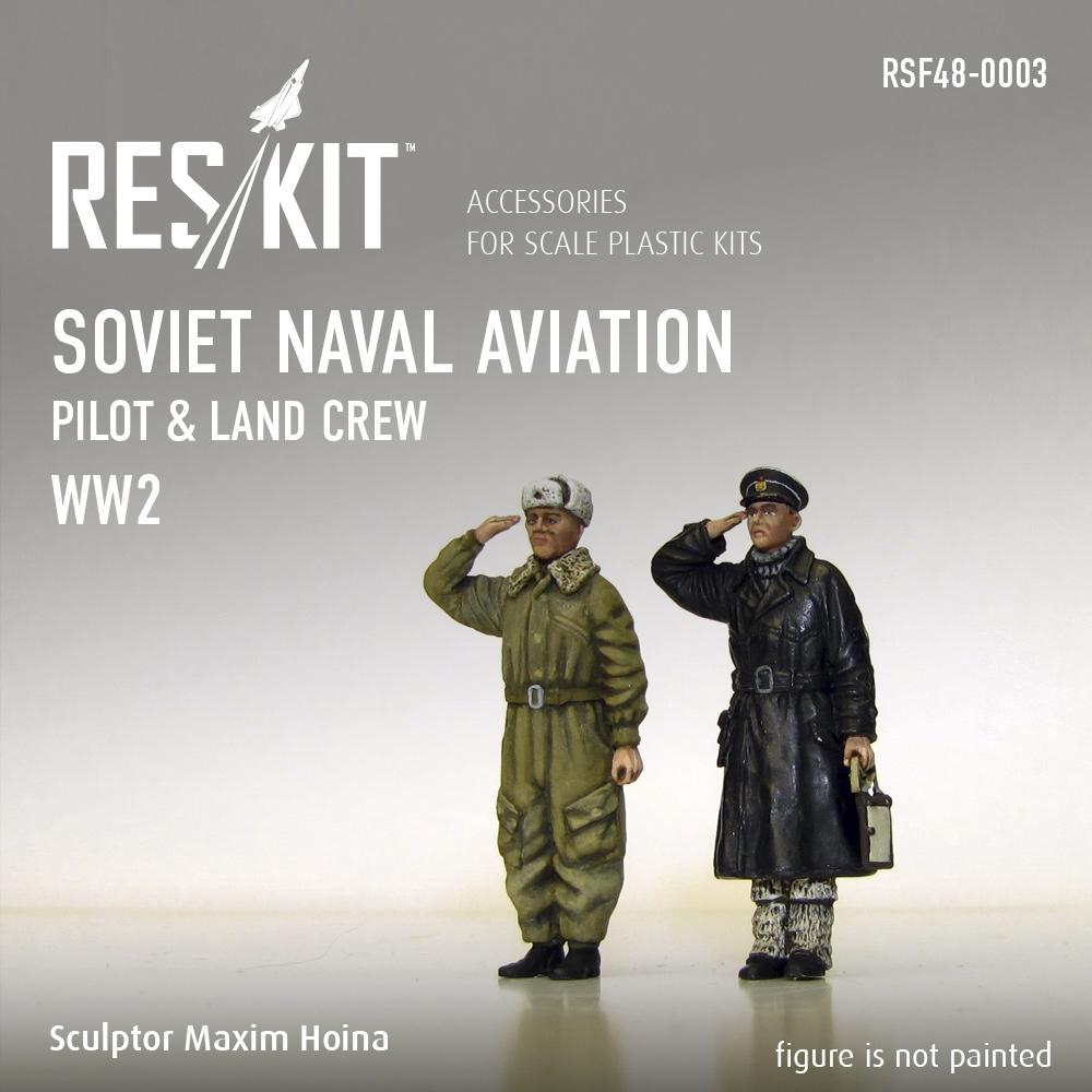 Res/Kit Soviet Naval Aviation pilot & land crew (WW2) 1/48