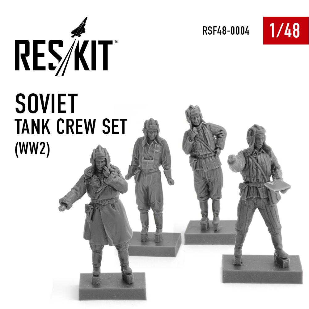 Res/Kit Soviet tank crew set (WW2) 1/48