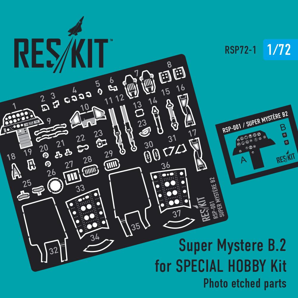 Res/Kit Super Mystere B.2 for AZUR Kit 1/72