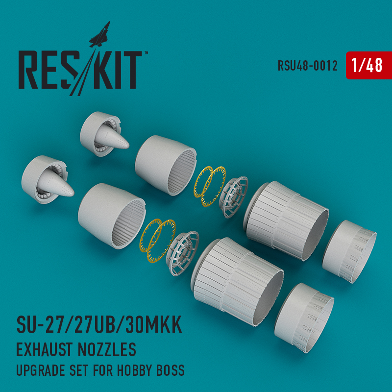 Res/Kit Su-27/27UB/30MKK exhaust nozzles for Hobby Boss