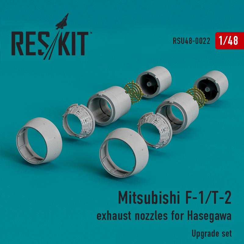 Res/Kit Mitsubishi F-1/T-2 exhaust nozzles for Hasegawa