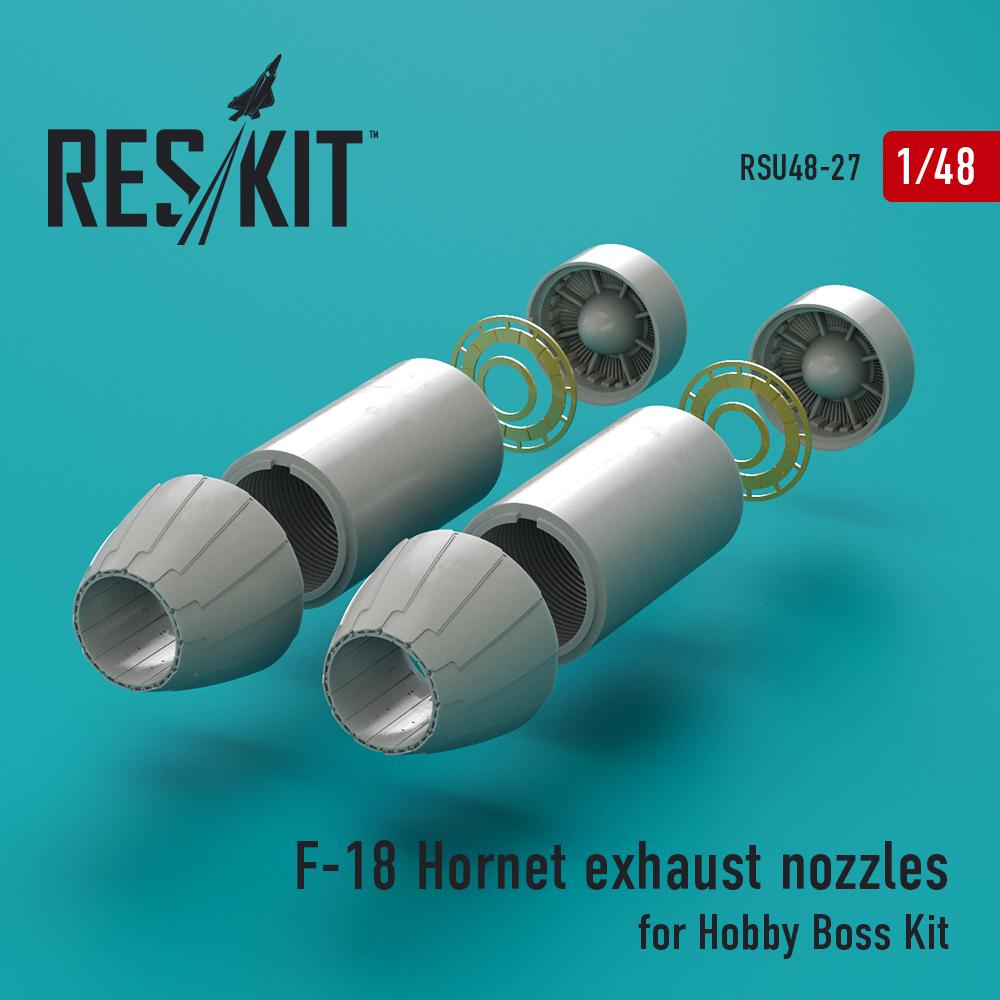 Res/Kit F-18 Hornet exhaust nozzles for Hobby Boss Kit