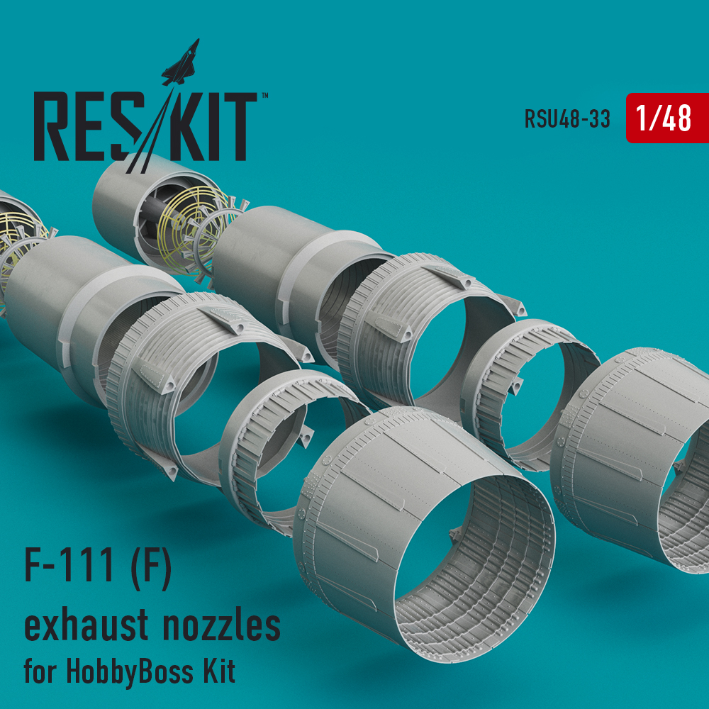 Res/Kit F-111 (F) exhaust nozzles for HobbyBoss Kit