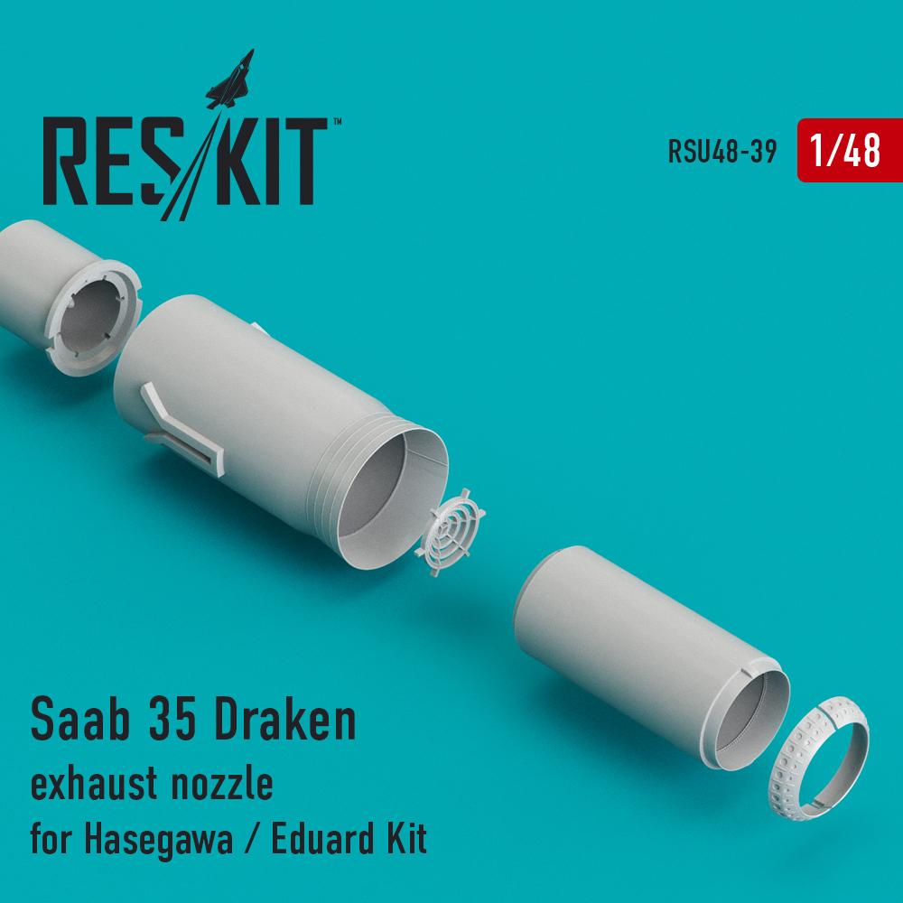 Res/Kit Saab 35 Draken exhaust nozzle for Hasegawa / Eduard Kit