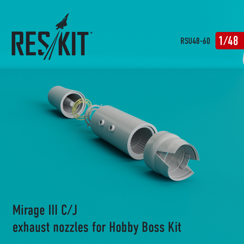 Res/Kit Mirage III C/J exhaust nozzles for Hobby Boss Kit