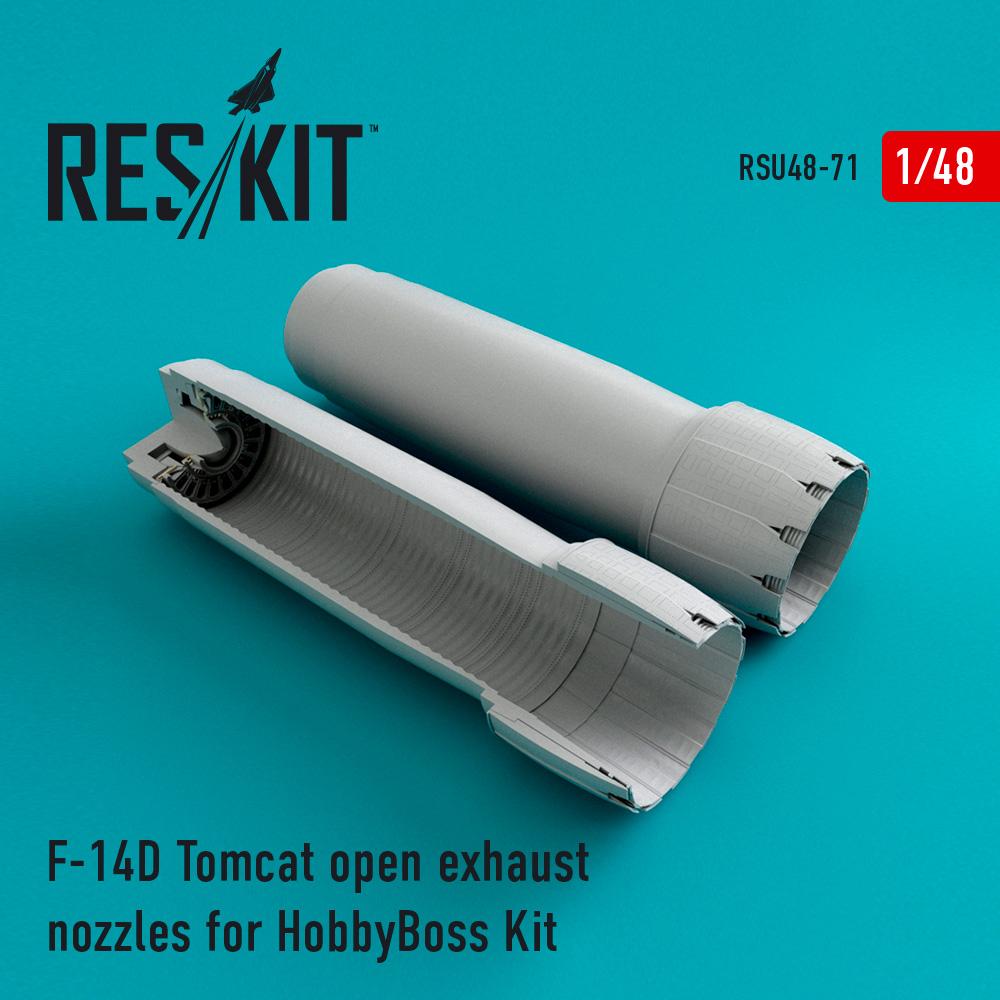 Res/Kit F-14D Tomcat open exhaust nozzles for HobbyBoss Kit