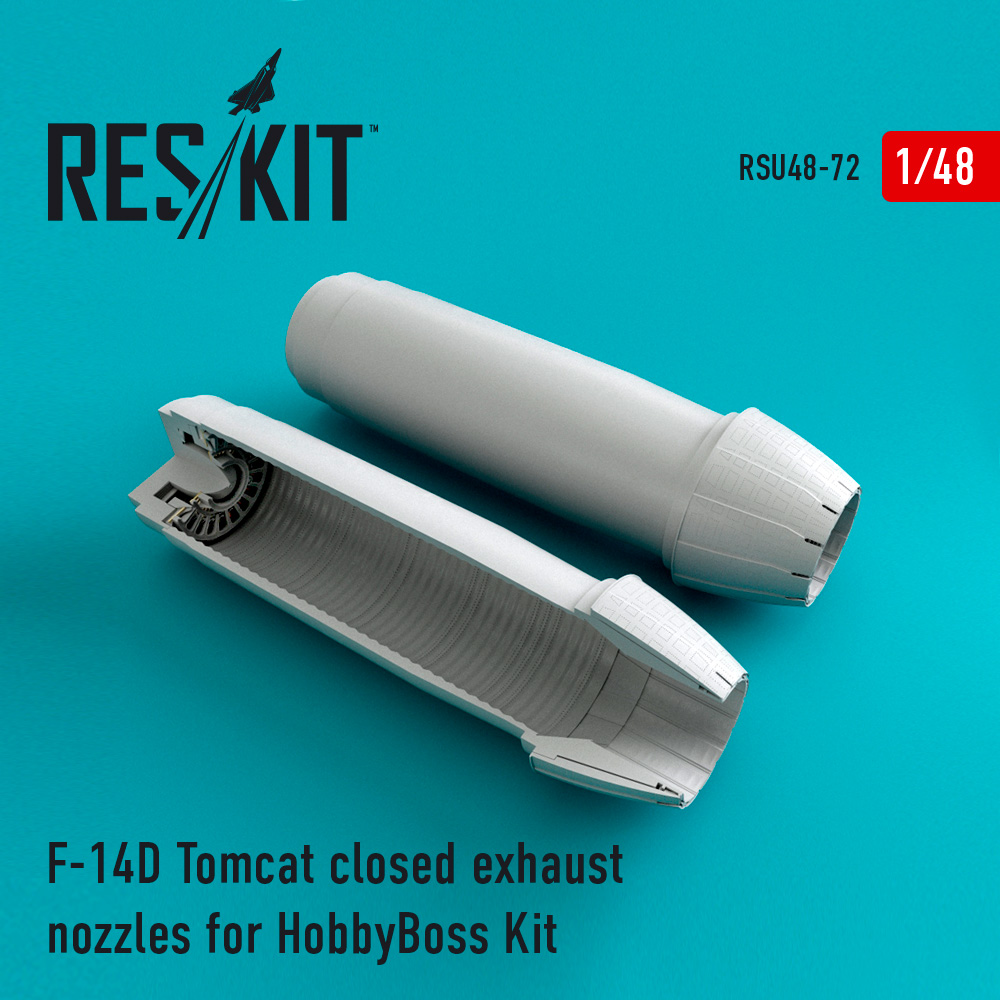 Res/Kit F-14D Tomcat closed exhaust nozzles for HobbyBoss Kit
