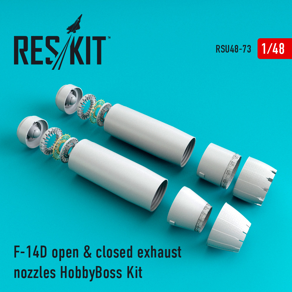 Res/Kit F-14D Tomcat open & closed exhaust nozzles for HobbyBoss Kit