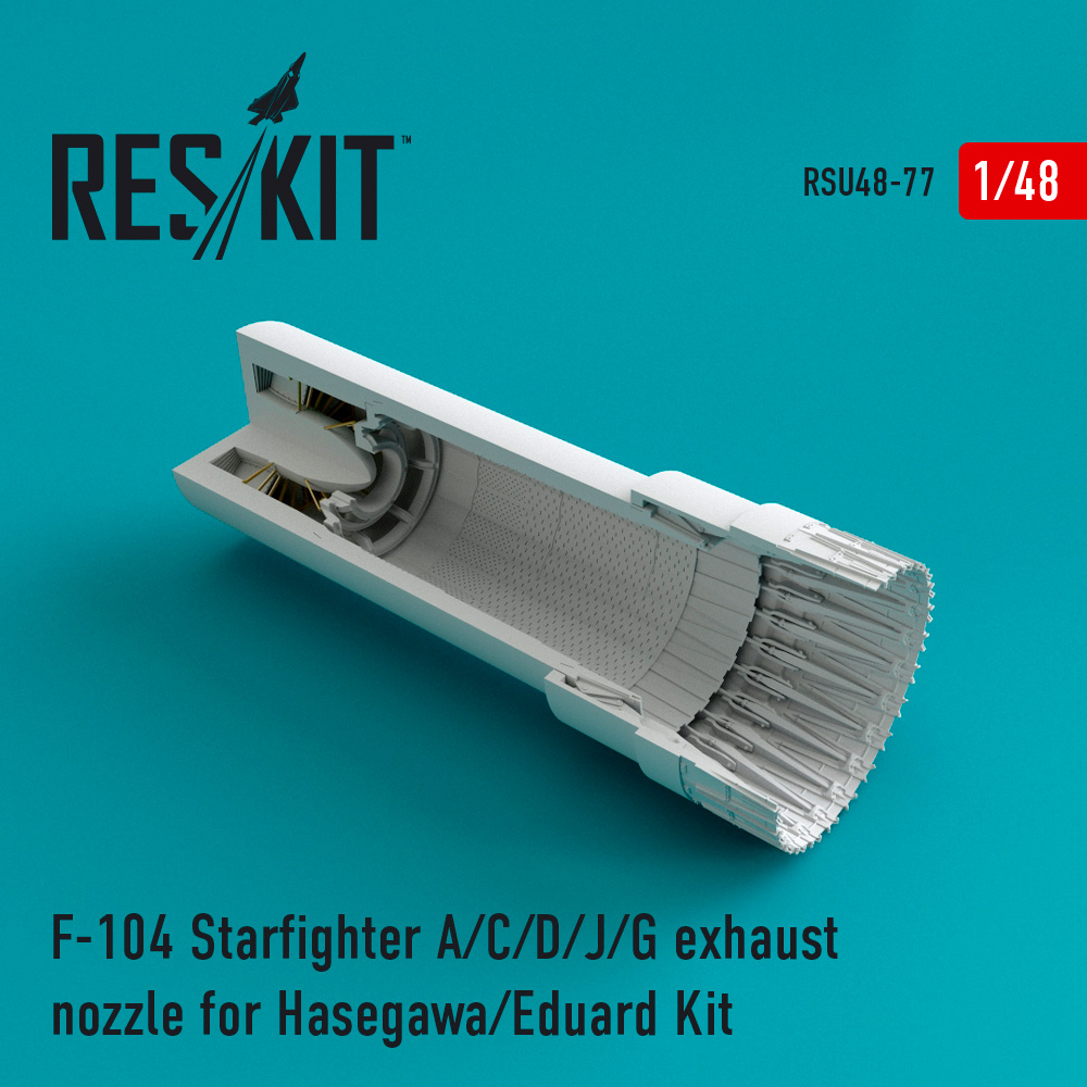 Res/Kit F-104 Starfighter (A/C/D/J/G) exhaust nozzle for Hasegawa/Eduard Kit