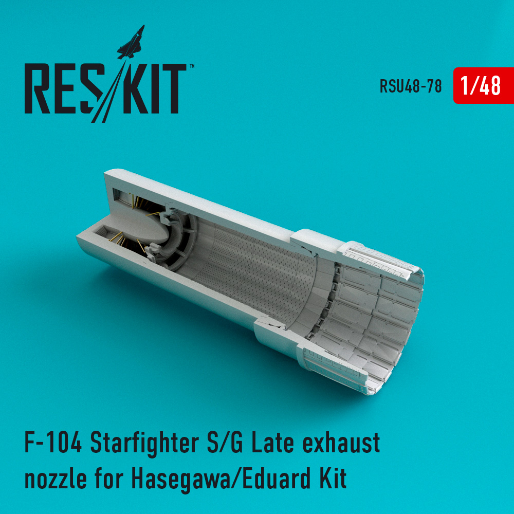 Res/Kit F-104 Starfighter (S/G Late) exhaust nozzle for Hasegawa/Eduard Kit