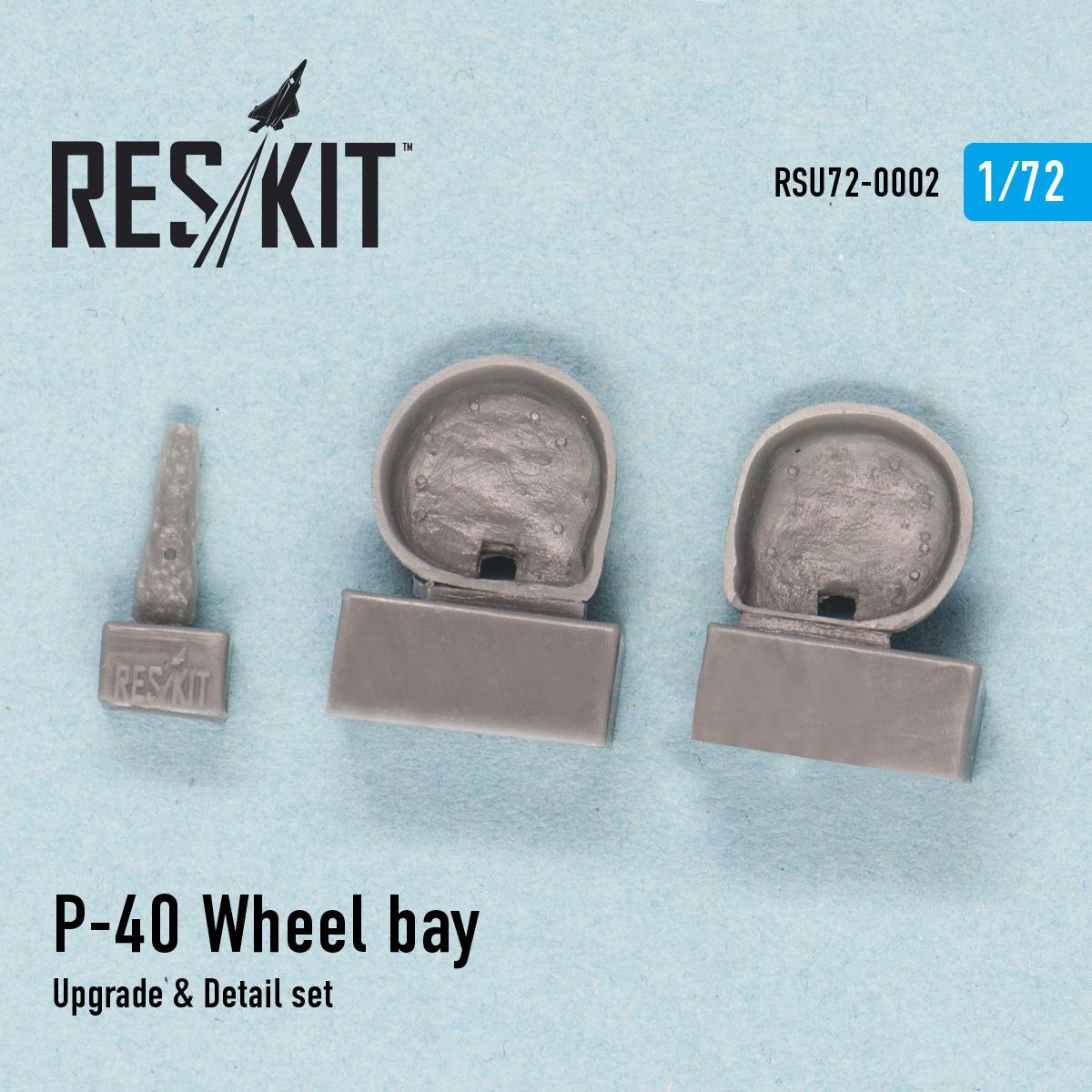 Res/Kit P-40 D,E.F,K,M,N Wheel bay