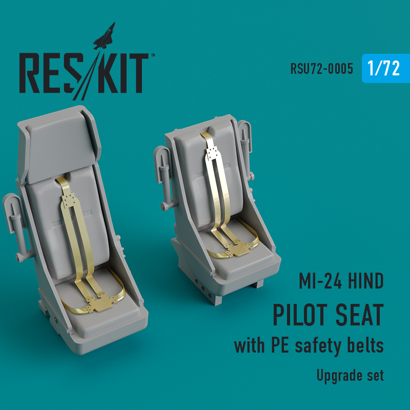 Res/Kit MI-24 hind. Pilot seat with PE safety belts