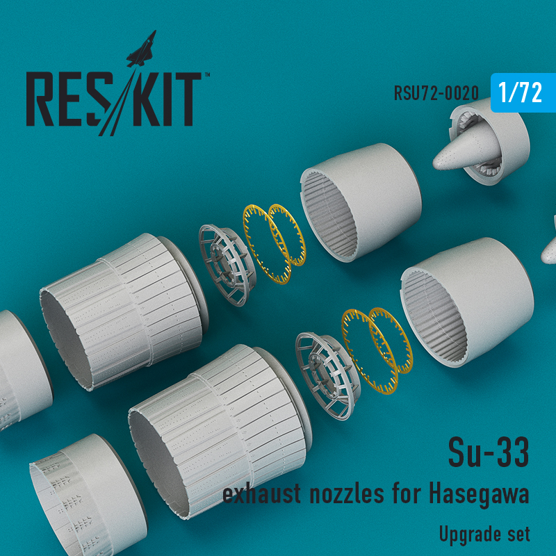 Res/Kit Su-33 exhaust nozzles for Hasegawa