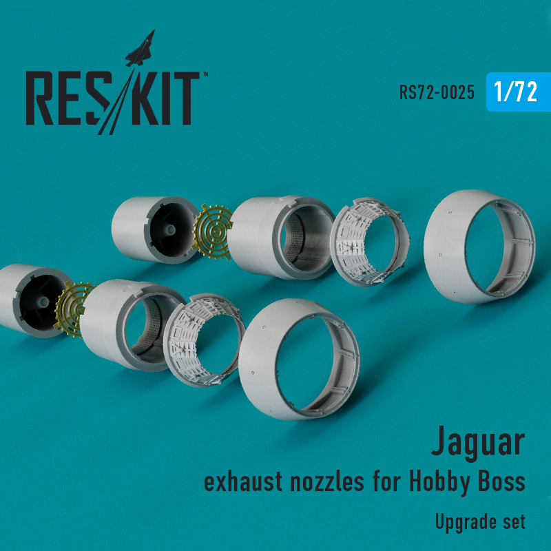 Res/Kit Jaguar exhaust nozzles for Hobby Boss