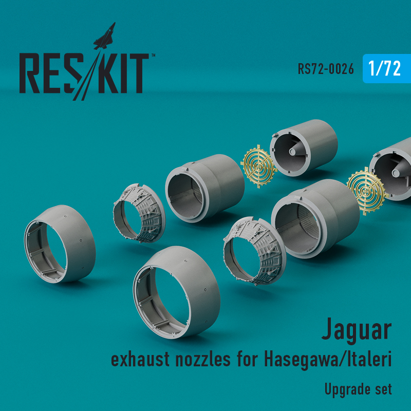 Res/Kit Jaguar exhaust nozzles for Hasegawa/italleri