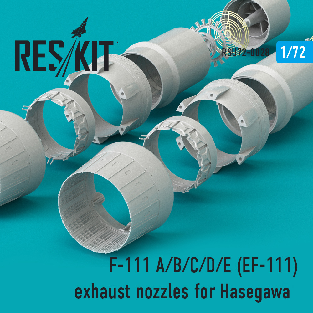 Res/Kit F-111 A/B/C/D/E (EF-111) exhaust nozzles for Hasegawa KIT
