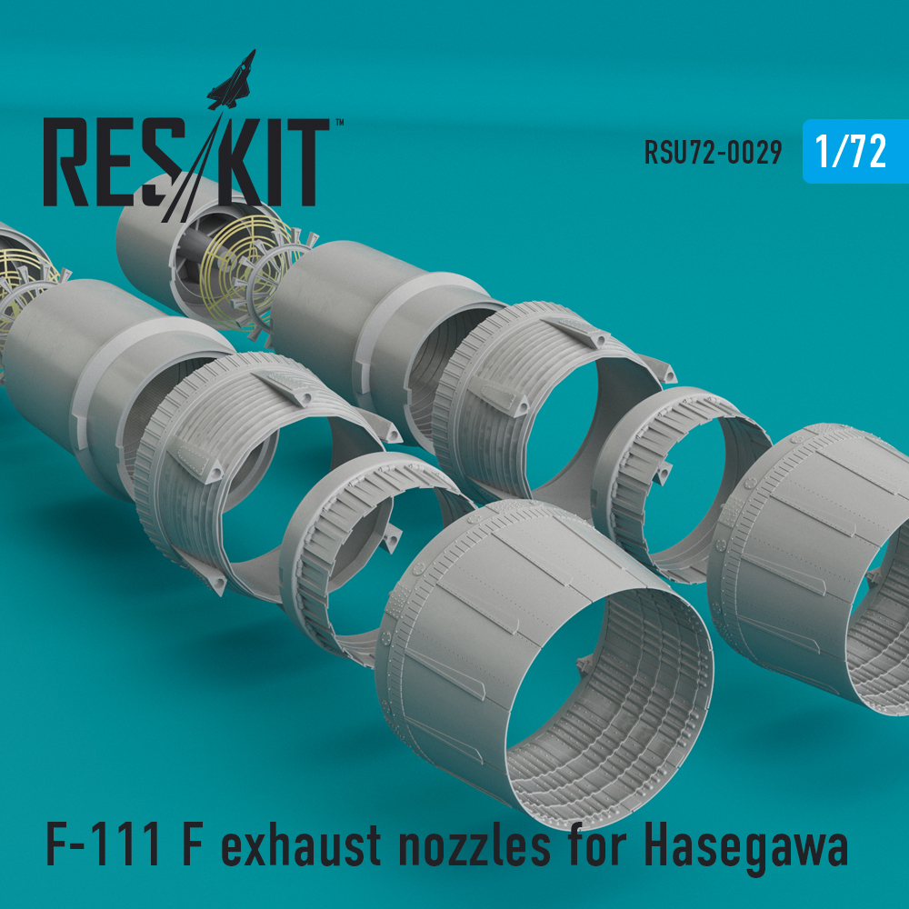 Res/Kit F-111 F exhaust nozzles for Hasegawa KIT