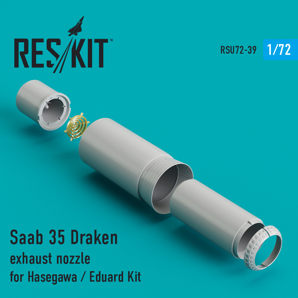Res/Kit Saab 35 Draken exhaust nozzle for Hasegawa / Revell Kit
