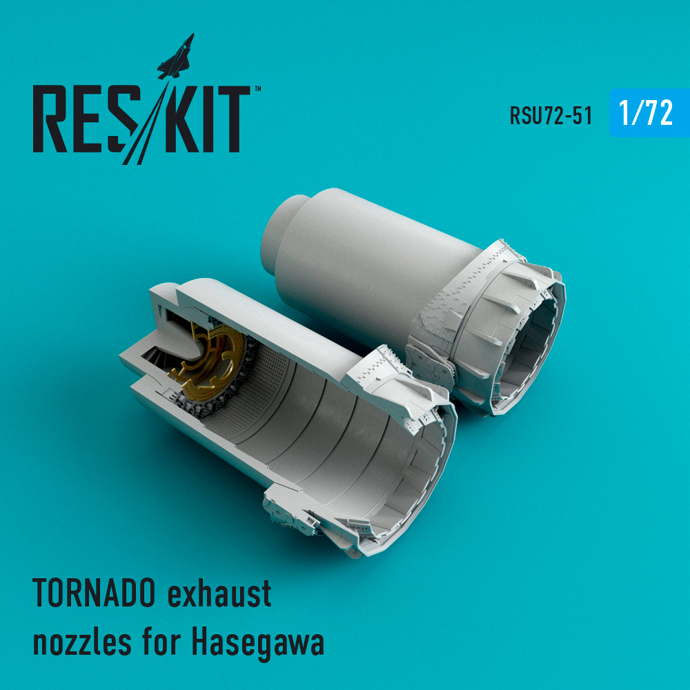 Res/Kit TORNADO exhaust nozzles for Hasegawa