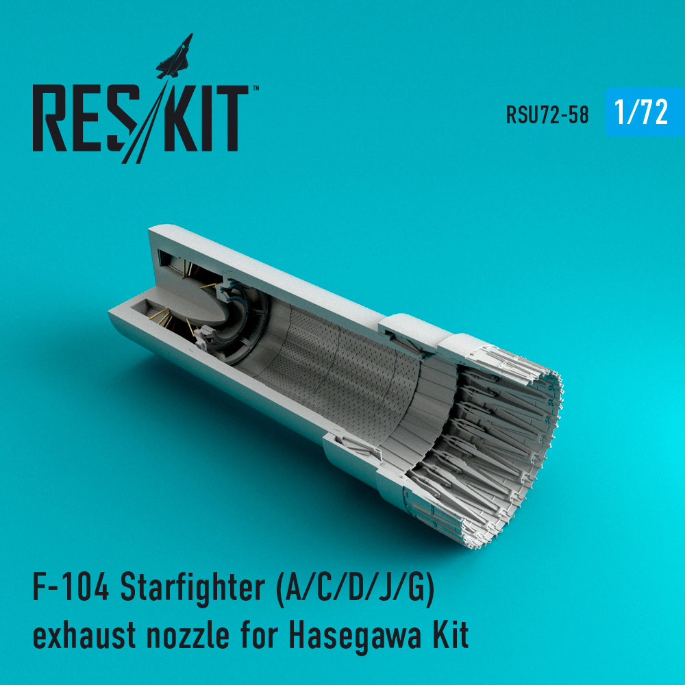 Res/Kit F-104 Starfighter (A/C/D/J/G) exhaust nozzle for Hasegawa Kit