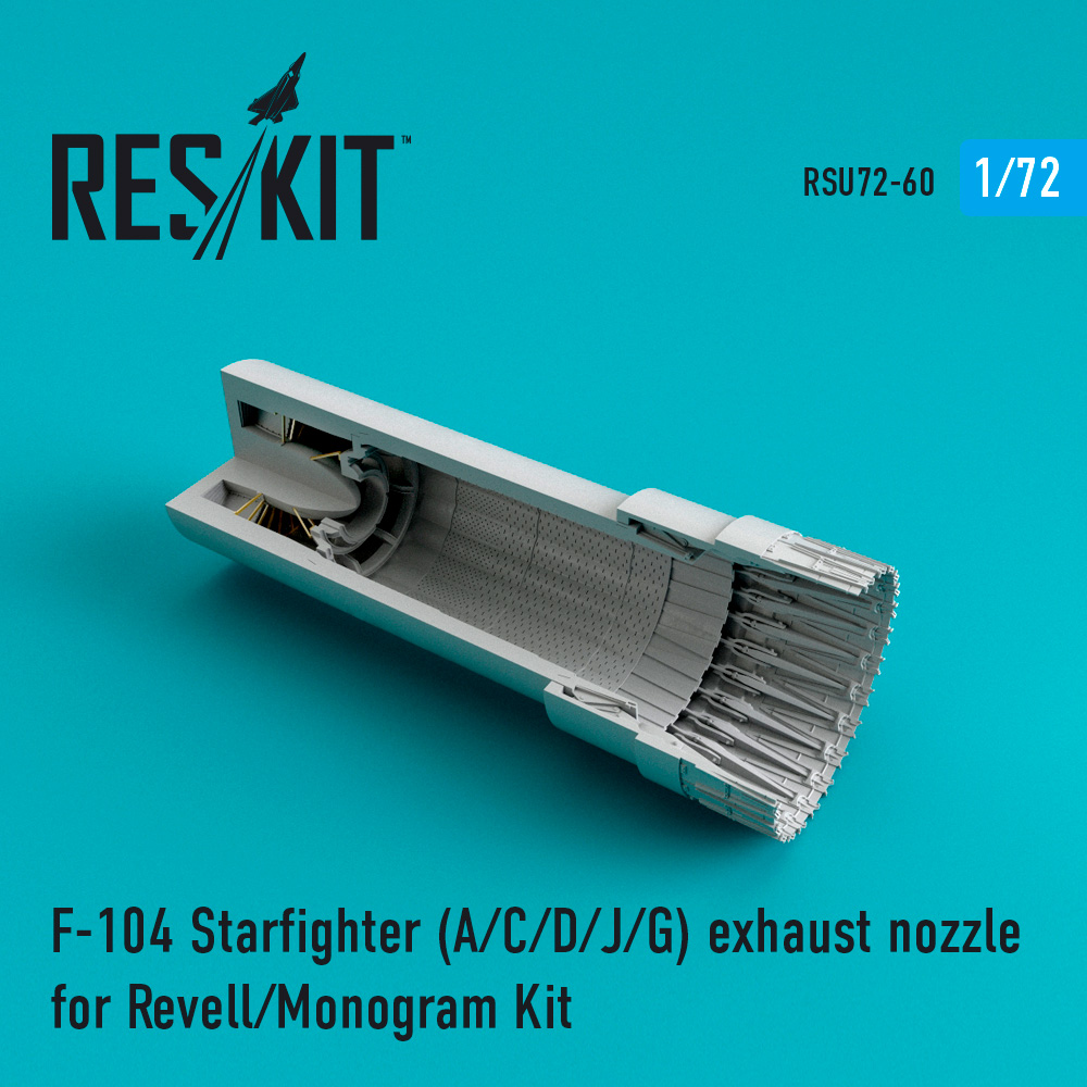 Res/Kit F-104 Starfighter (A/C/D/J/G) exhaust nozzle for Revell/Monogram Kit