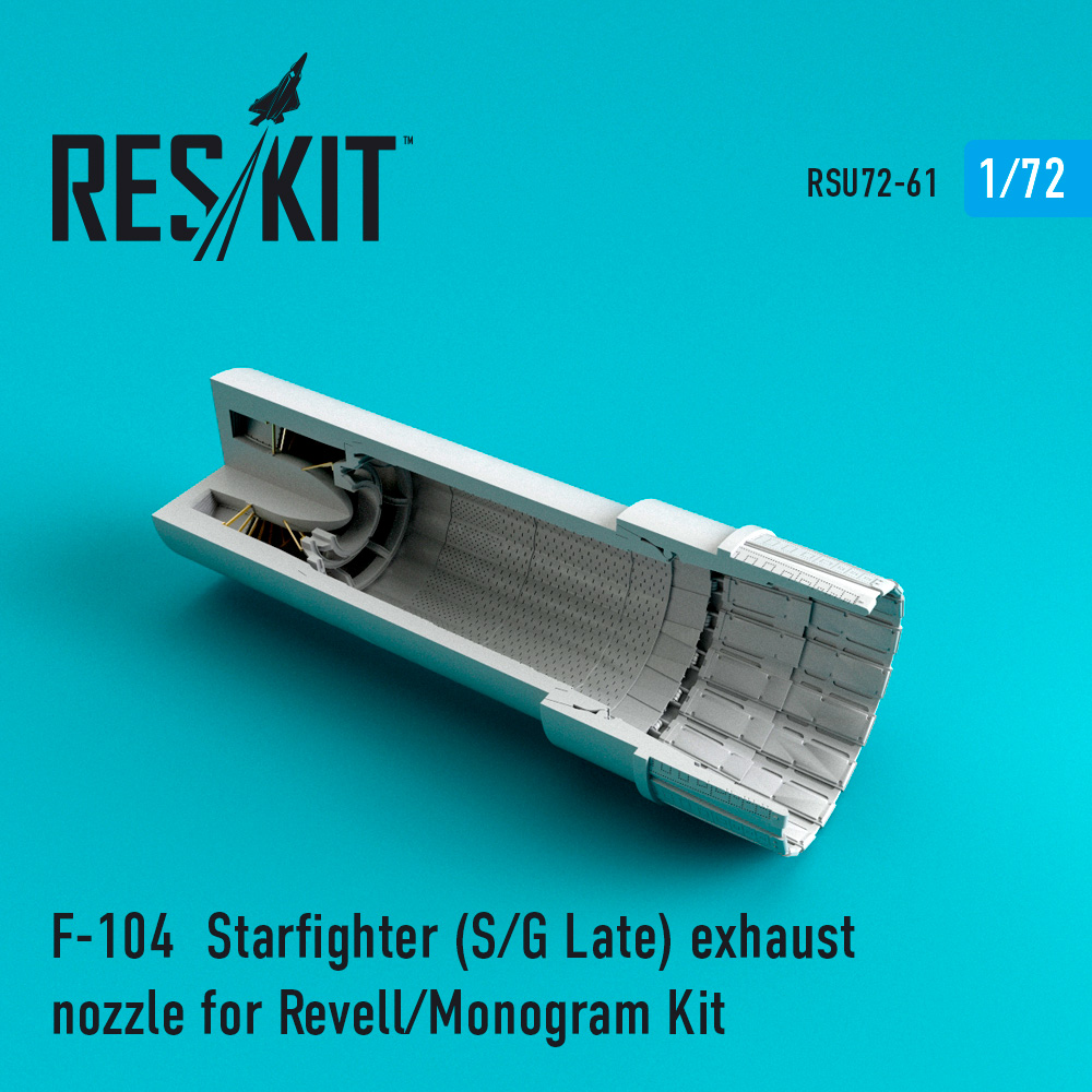 Res/Kit F-104 Starfighter (S/G Late) exhaust nozzle for Revell/Monogram Kit