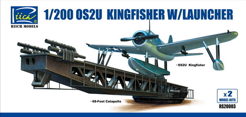 Riich 1/200 OS2U-3 Kingfisher w/Launcher (Model Kits X2)