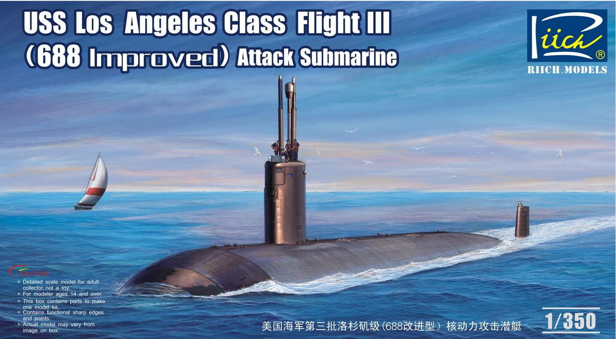 Riich 1/350 USS Los Angeles Class Flight III (688 improved) SSN