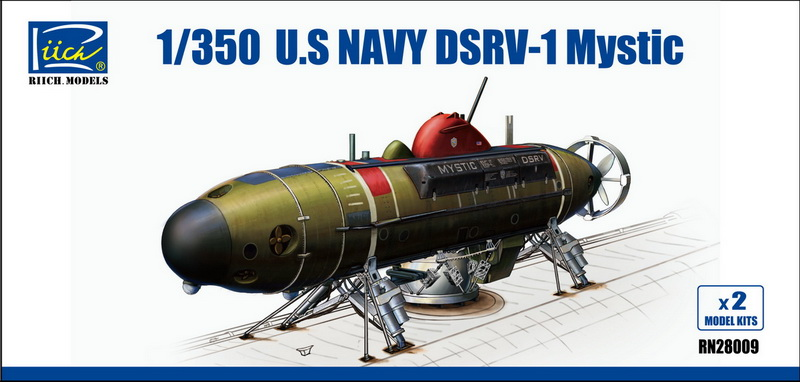 Riich 1/350 U.S.Navy DSRV-1 Mystic(Model Kits X2)