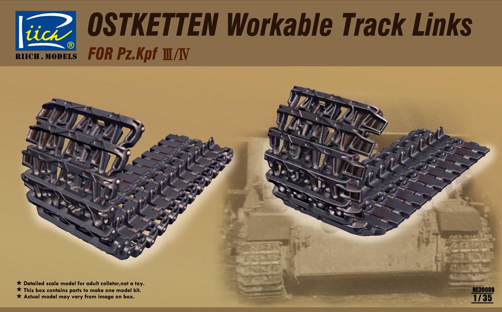 Riich 1/35 Ostketten Workable Track Links for Pz.Kpfw III/IV & StuG III