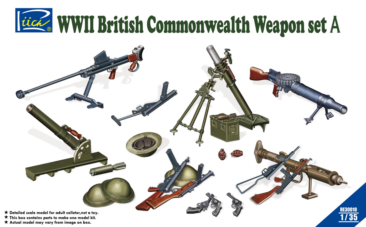 Riich 1/35 WWII British Commonwealth Weapon Set A