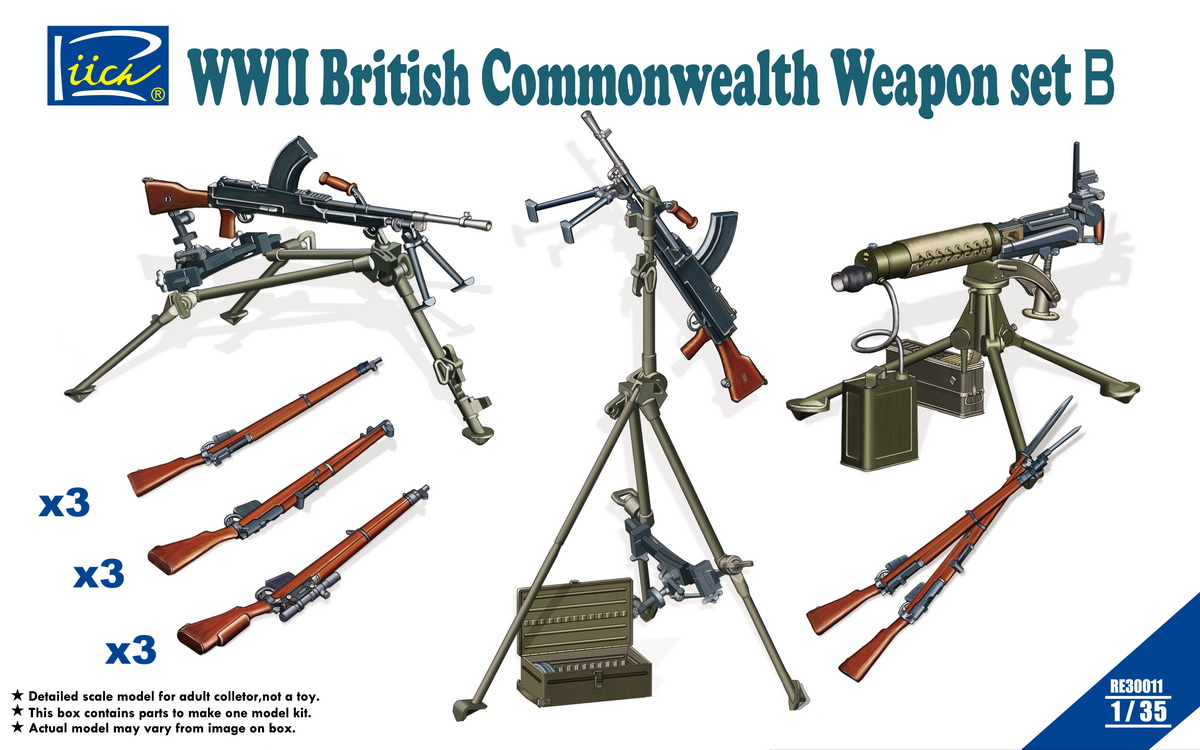 Riich 1/35 WWII British Commonwealth Weapon Set B