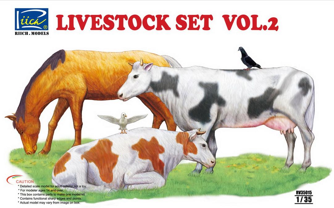 Riich 1/35 Livestock Set Vol.2