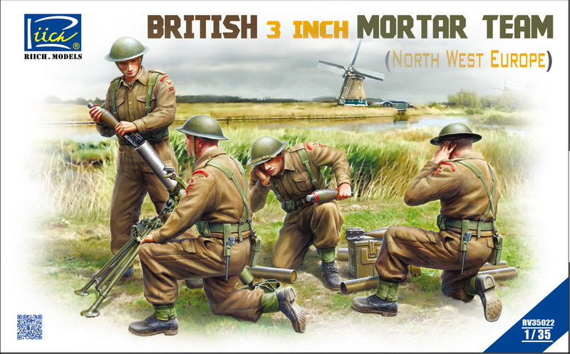 Riich 1/35 British 3 inch Mortar Team set (North West Europe)