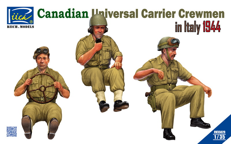 Riich 1/35 Canadian Universal Carrier Crewmen in Italy 1944