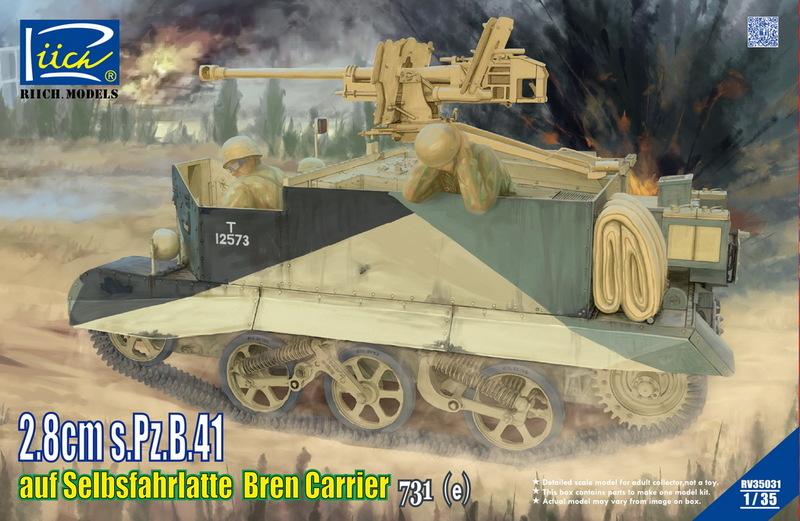 Riich 1/35 2.8cm s.Pz.B.41 auf Selbsfahrlafette Bren Carrier 731?