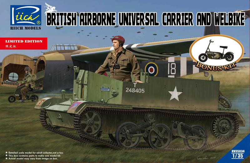 Riich 1/35 British Airborne Universal Carrier Mk.III & Welbike Mk.2