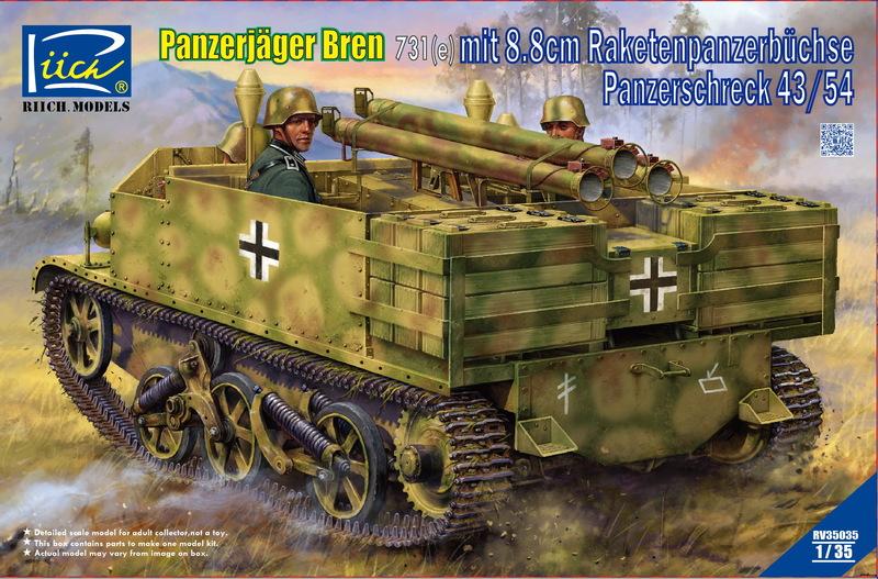 Riich 1/35 Panzerj?ger Bren 731(e) mit 8.8 cm Raketenpanzerb?chse