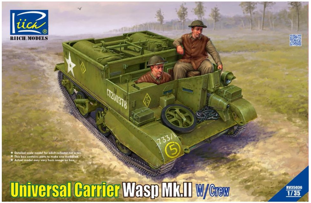 Riich 1/35 Universal Carrier Wasp Mk.II with crew