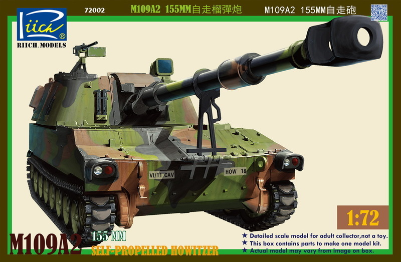 Riich 1/72 M109A2 155MM Self-Propelled Howitzer