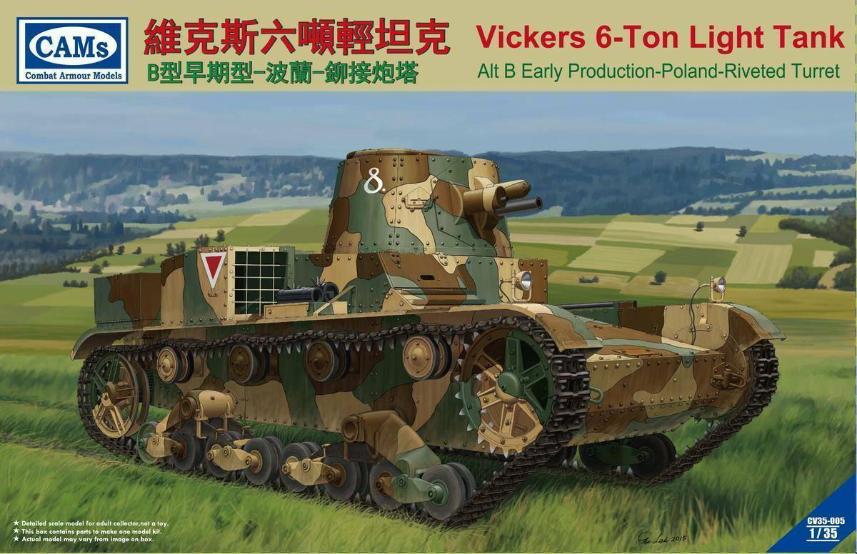Riich 1/35 Vickers 6-Ton light tank ( Alt B Early Production- Poland- Riveted Turret)