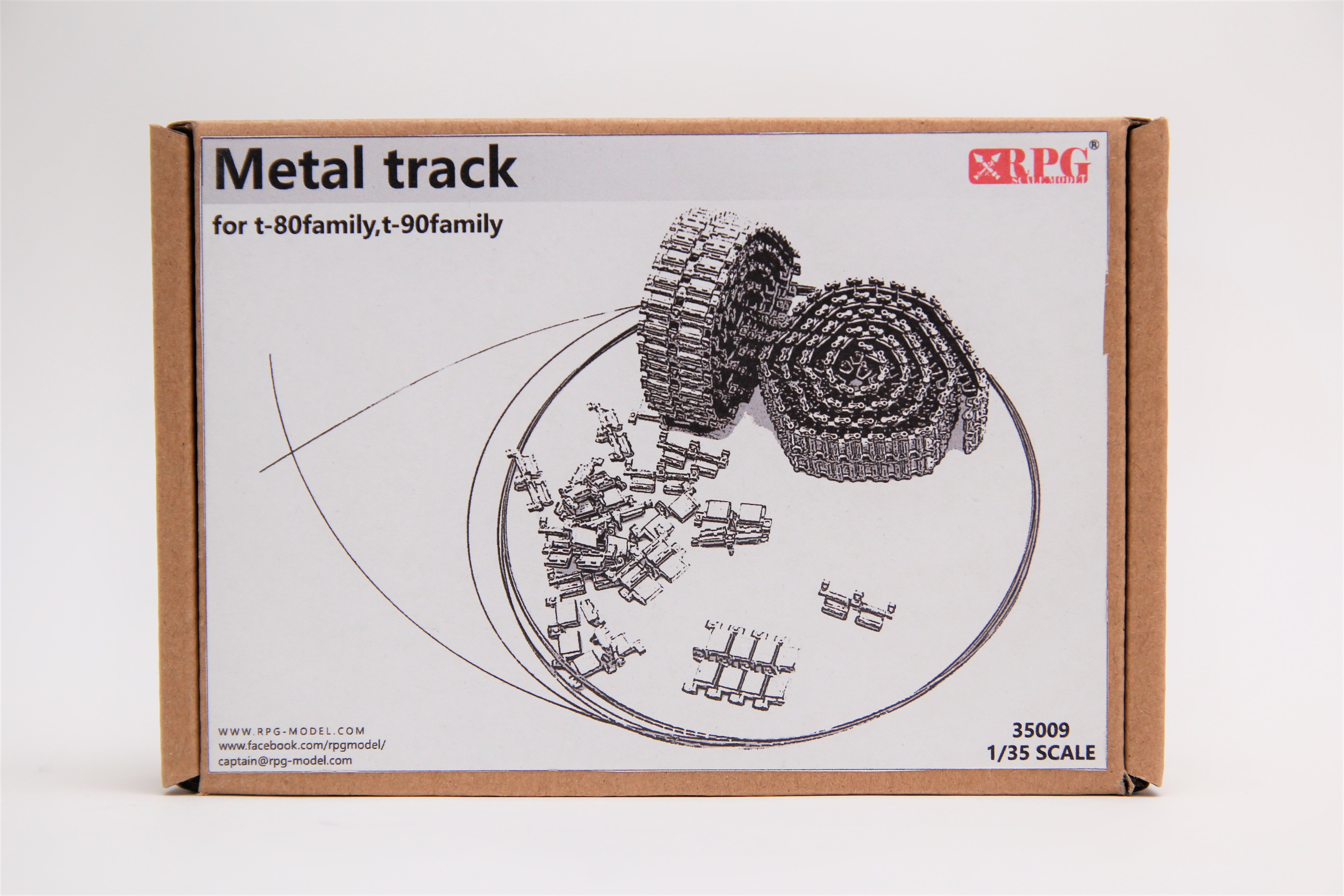 RPG 1/35 metal track for T-80 family, T-90 family