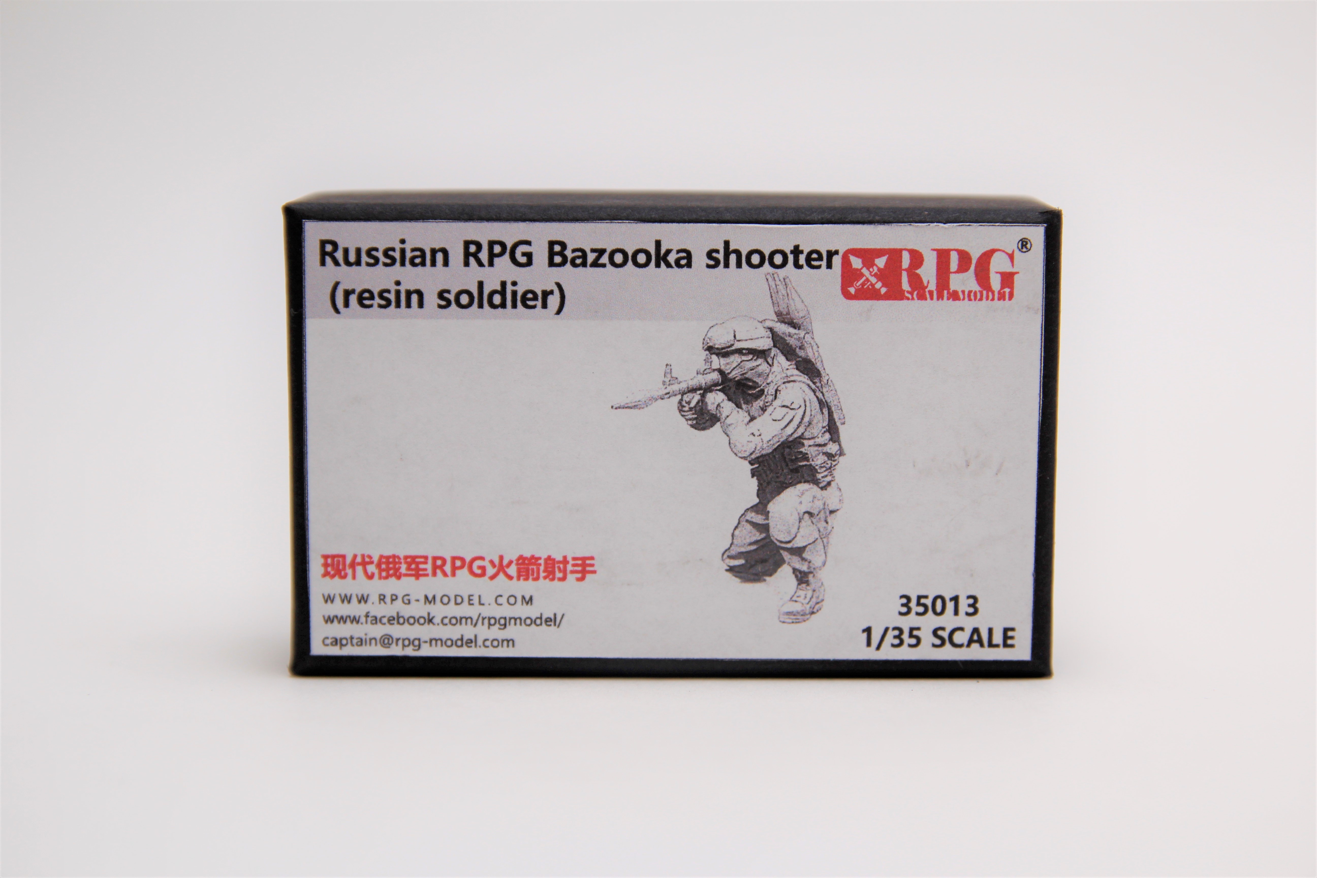 RPG 1/35 Russian RPG Bazooka shooter (resin soldier)