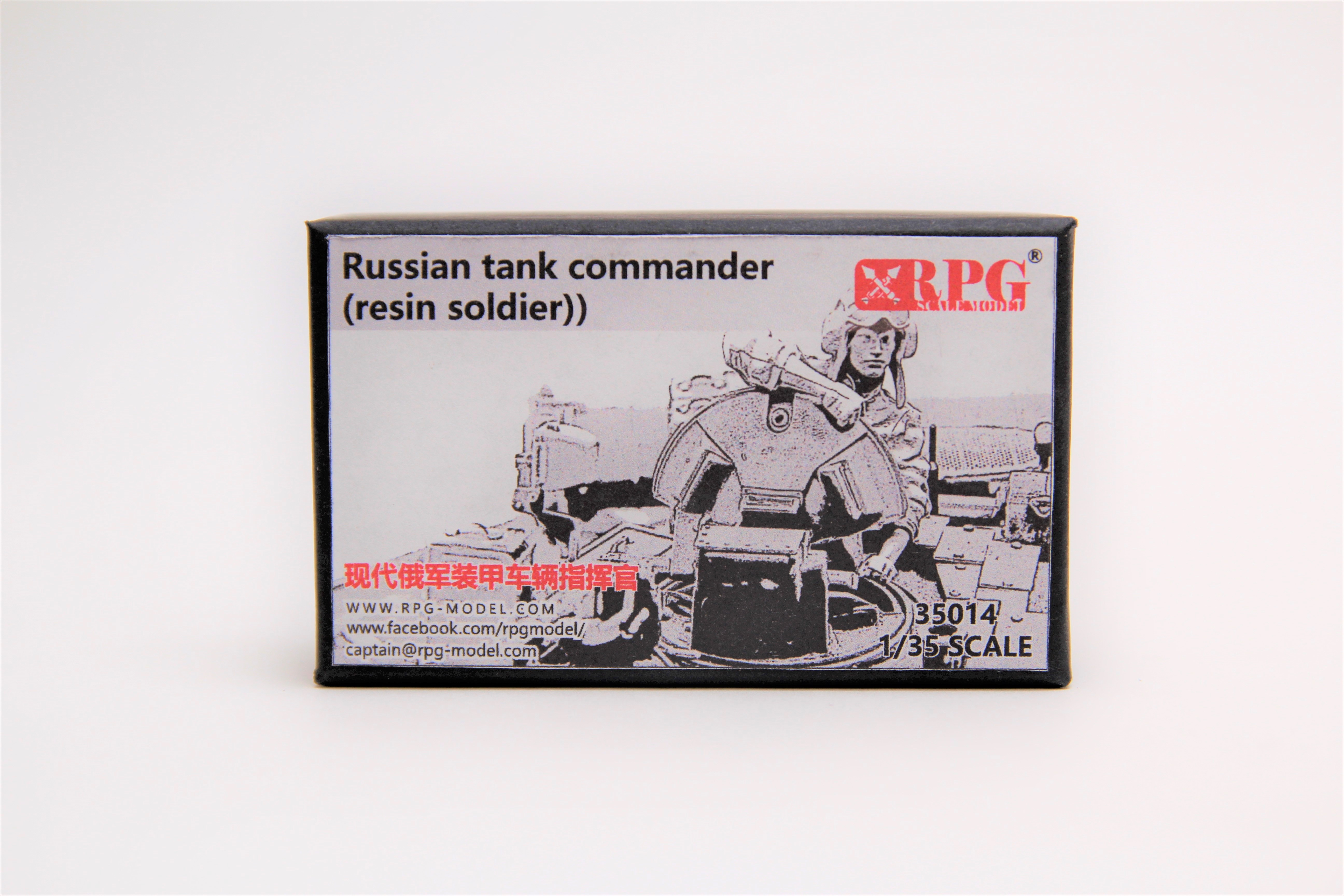 RPG 1/35 Russian tank commander (resin soldier)