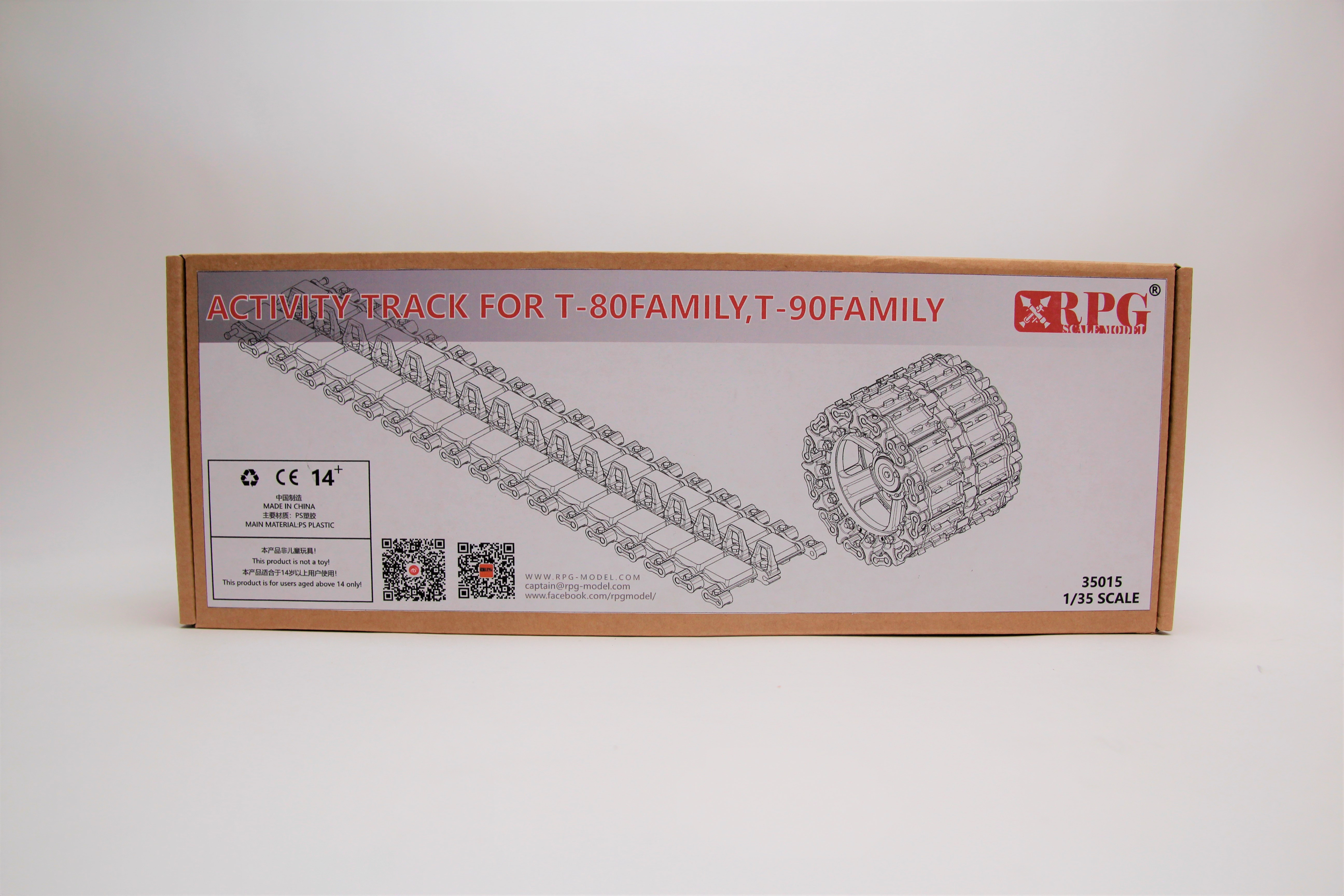 RPG 1/35 Activity track for T-80 family, T-90 family