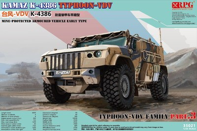 RPG 1/35 Typhoon VDV K-4386 Mine-Protected Armoured Vehicle, Early Type