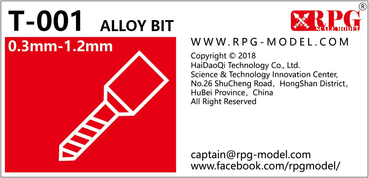 RPG Alloy bit set 0.3mm-1.2mm