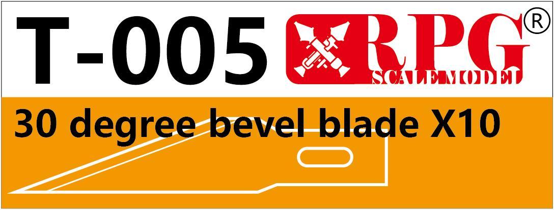 RPG 30 degree bevel blade X10 piece set