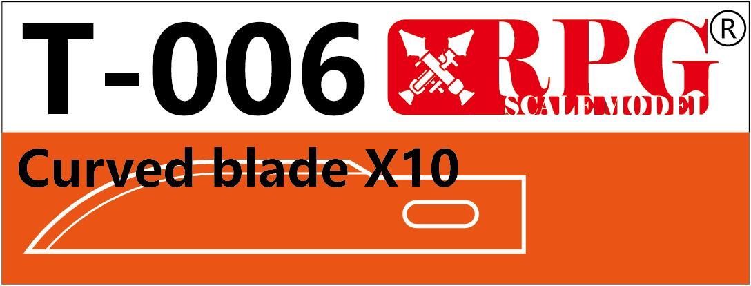 RPG Curved blade X10 piece set