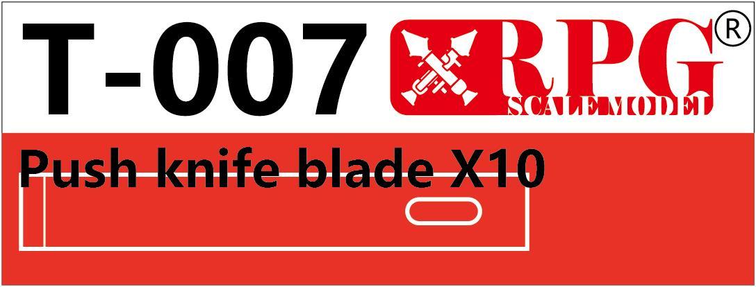 RPG Push knife blade X10 piece set